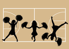 Basketball Cheerleaders 5 Stock Images
