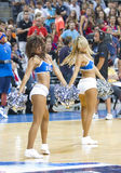 Basketball cheerleaders Stock Images