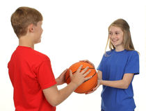 Basketball children Royalty Free Stock Image