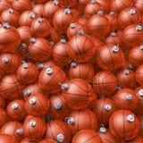 Basketball christmas balls Stock Image