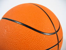 Basketball Close-up. A close-up of a basketball on white background royalty free stock photo