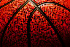 Basketball closeup Stock Photography