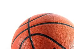 Basketball closeup isolated on. White royalty free stock photo