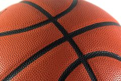 Basketball closeup isolated on. White Stock Images