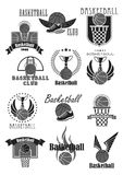 Basketball club or championship award vector icons Royalty Free Stock Images