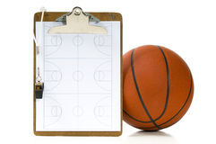 Basketball coach's items Royalty Free Stock Photography