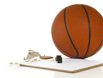 Basketball coach's items Royalty Free Stock Photos