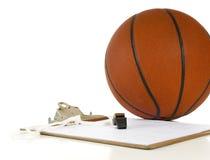 Basketball coach's items Royalty Free Stock Photos