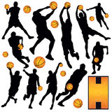 Basketball Collection. Vector collection of basketball players Royalty Free Stock Photo