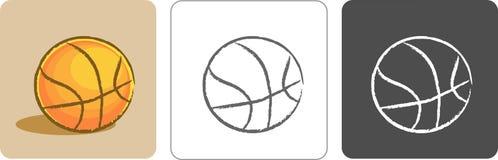 Basketball Color Sketch Stock Photos