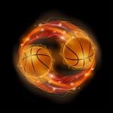 Basketball comet Stock Photography
