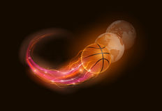 Basketball comet Royalty Free Stock Image