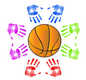 Basketball community concept Royalty Free Stock Images