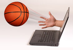 Basketball and Computer Stock Photography
