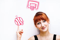 Basketball conception Stock Photography