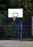 Basketball construction. Basketball hoop construction outdoor court Royalty Free Stock Images