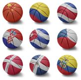 Basketball countries from C to E Royalty Free Stock Photo