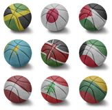 Basketball countries from J to L Stock Photo