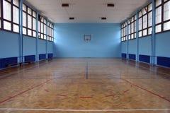 Basketball court. University basketball court, Kragujevac, Serbia Stock Photos