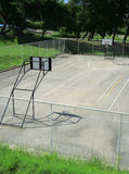 Basketball court. Empty basketball court in the park Stock Photography