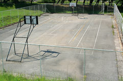 Basketball court. Empty basketball court in the park Royalty Free Stock Photography