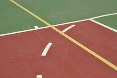 Basketball court Royalty Free Stock Photos