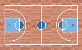 Basketball court. View from above Royalty Free Stock Photos