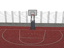 Basketball court Stock Photo