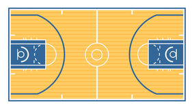 Basketball Court. An illustration of the layout for a typical basketball court Stock Photo