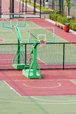 Basketball court. The photo is Outdoor Basketball Court stock photo