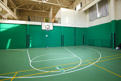 Basketball court. In the stadium Stock Image