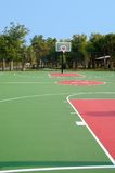 Basketball Court. Basketball backboard and hoop at end of court Stock Photography