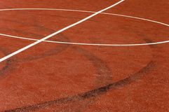 Basketball court. A closeup of the center of basketball court Royalty Free Stock Image