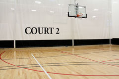 Basketball Court. Image of a basketball court at a recreation center Royalty Free Stock Photography