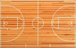 Basketball court. Plan on parquet background Royalty Free Stock Images
