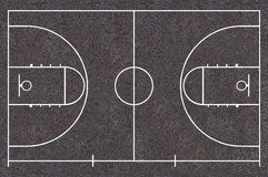Basketball court. For planning and player position of the match. Asphalt Texture, Street Basket ball Royalty Free Stock Photos