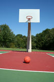 Basketball on a court Royalty Free Stock Photos