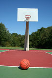Basketball on a court Royalty Free Stock Photo