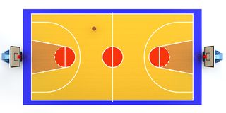 Basketball court. 3D rendered illustration of basketball court Stock Photos