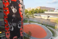 Basketball court Stockbild