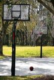 Basketball Court. With ball stock photos