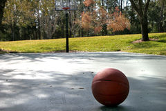 Basketball Court. With ball royalty free stock photography