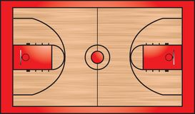 Basketball court. An illustration of the top-down view of a basketball court Stock Images