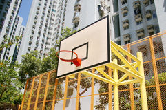 Basketball court in abstract view Royalty Free Stock Image