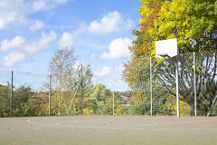 Basketball Court in Autumn / Fall Royalty Free Stock Photography