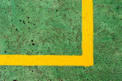 Basketball Court Background 4. Basketball Court Background green and Yellow lines stock photography