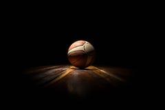 Basketball on Court Stock Photography