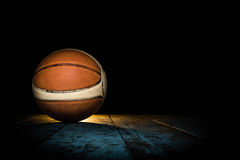 Basketball on Court. Basketball ball sport shot objects Royalty Free Stock Image