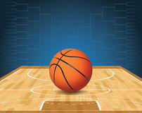 Basketball Court and Ball Tournament Illustration Royalty Free Stock Photos