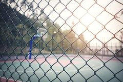 Basketball court. With fence in city royalty free stock images